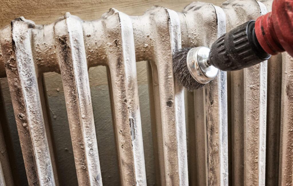 prepare metal radiator for painting